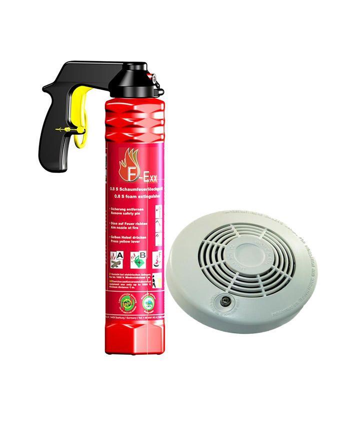 Reusable Fire Extinguisher + Smoke Alarm