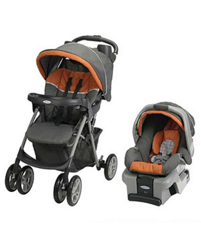 Spree Classic Connect Travel System Milton(17kg)- Brown / Orange