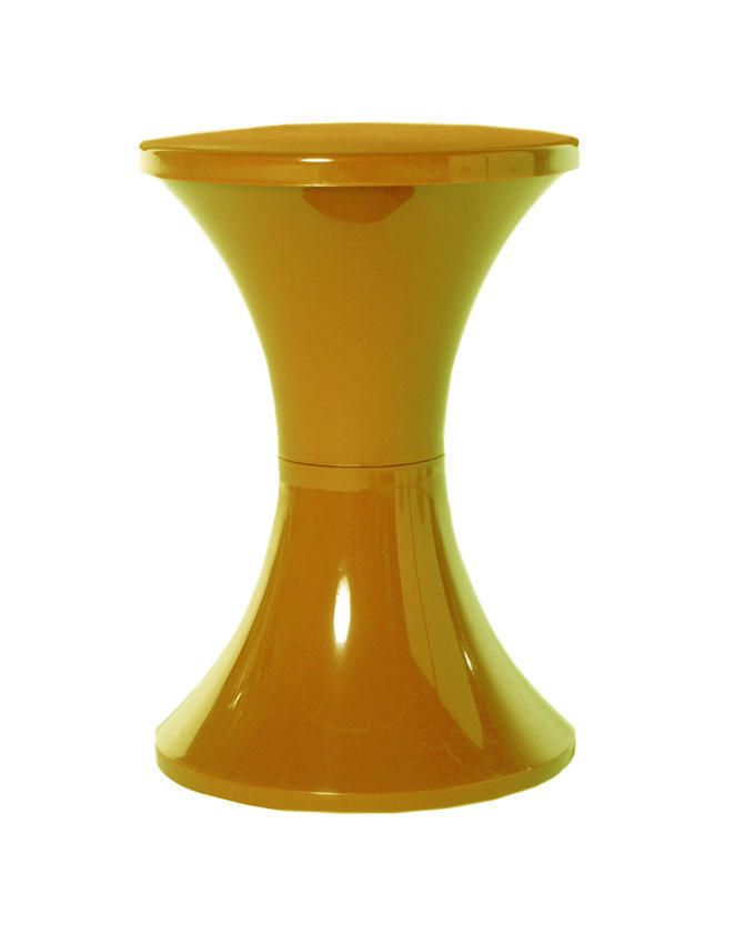 TAM Multipurpose Plastic Stool With Storage-Gold