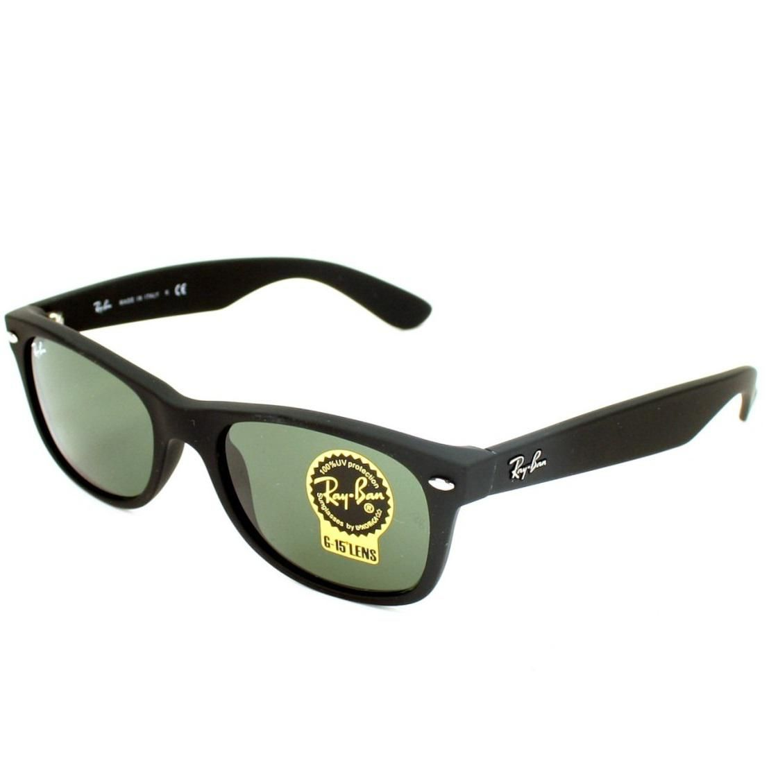 Ray-Ban RB2132 New Wayfarer Matte 622 Sunglasses Black