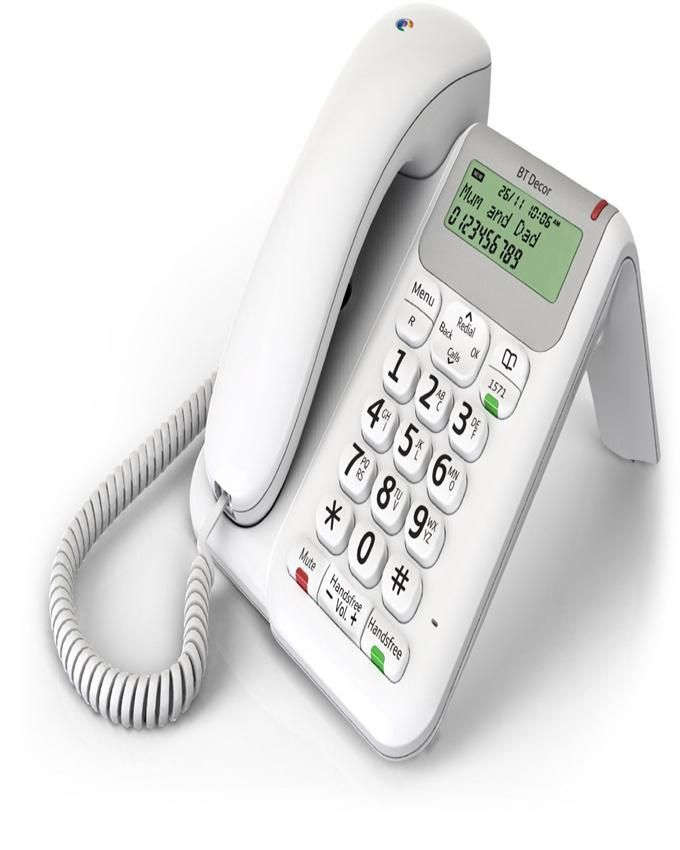 Décor 2200 Corded Telephone - White