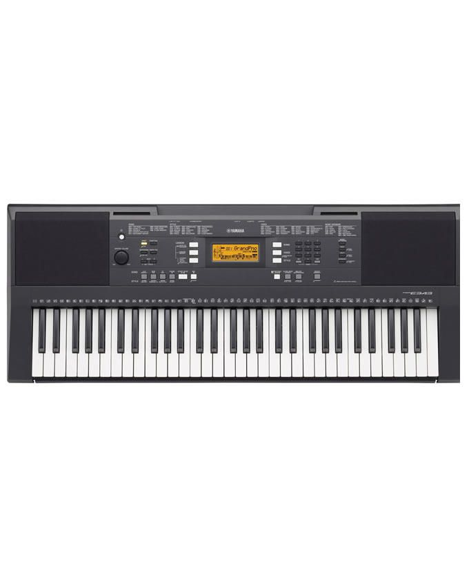 Keyboard PSR - E343 With PA 130 Power Adapter And Keyboard Stand