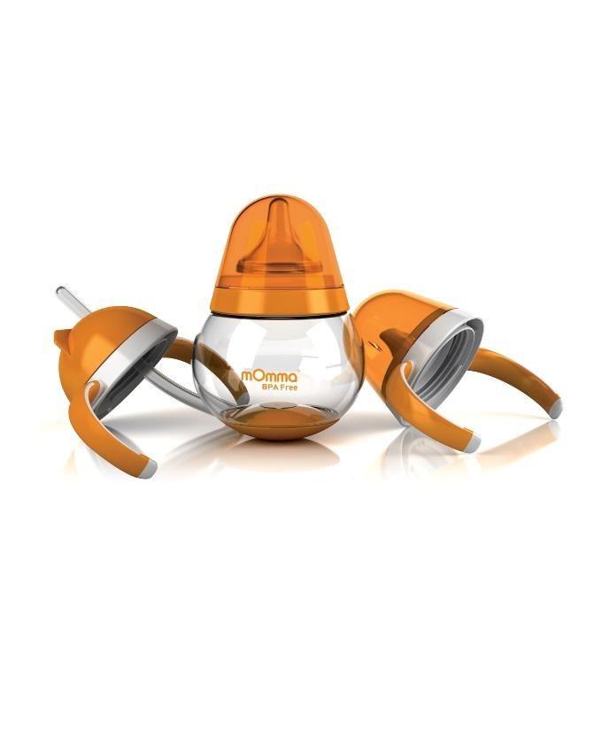Interchangeable BPA-Free Drink Set - Orange