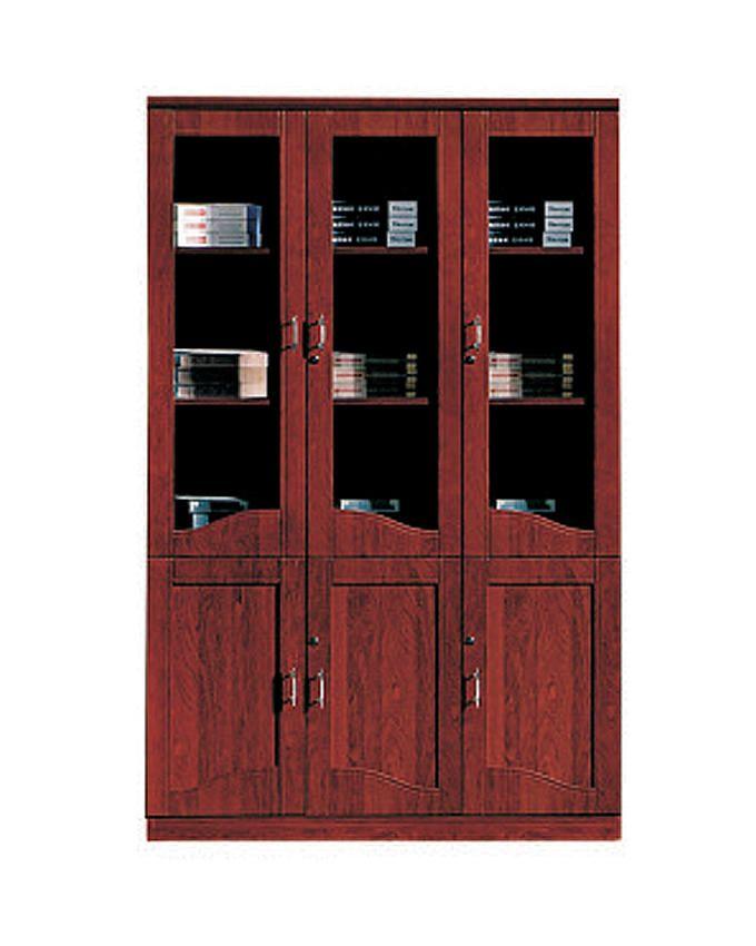 CherryWood 6-Door Bookshelf - Cabinet