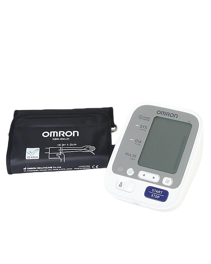 M3 Upper Arm Blood Pressure Monitor (Large Cuff) 120 Memory For 2 Users