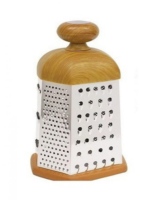 Grater With Wooden Handle - Brown