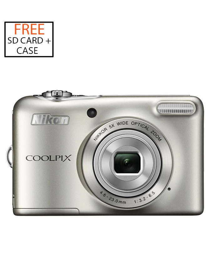 Coolpix S2900 20.1MP Digital Camera (Silver) + Free 4GB SD Card & Camera Case