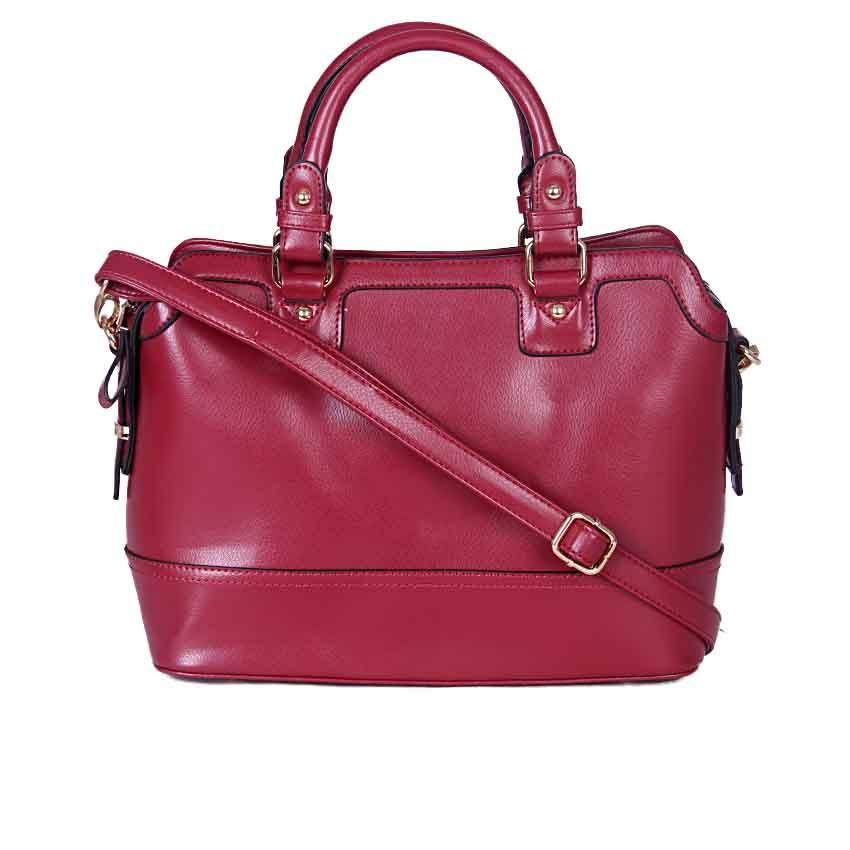 Burgundy Fashion Tote Handbag LS00157