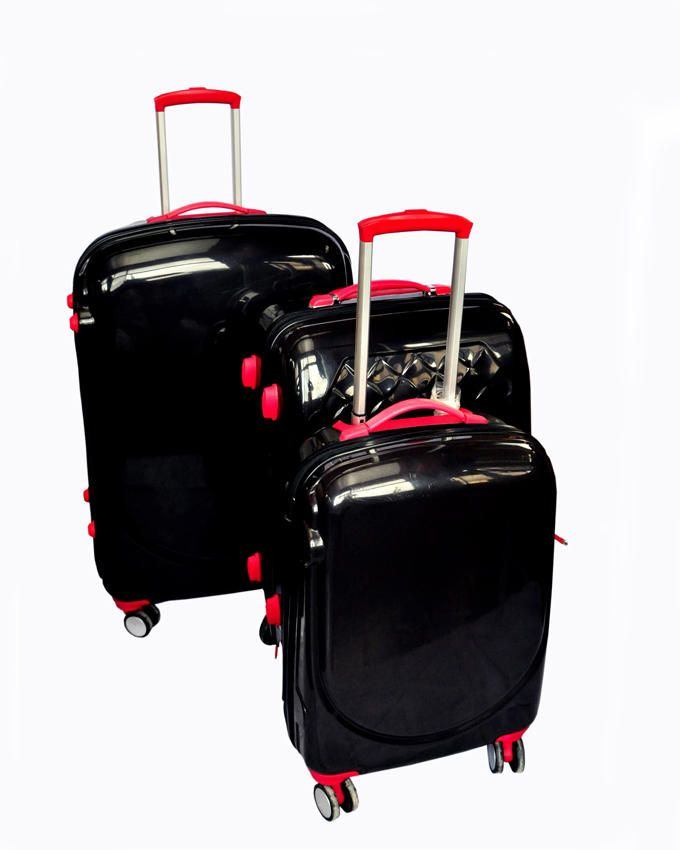 3-Piece Business Travel Suitcases -Black