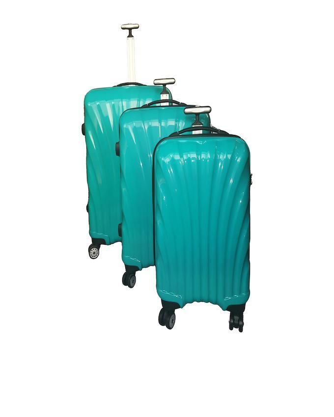 3-Piece Royal Travel Suitcases- Turquoise