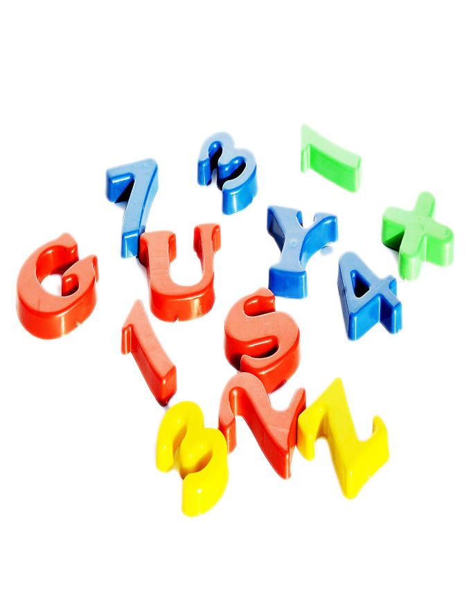 Magnetic Letters and Numbers For Children - Multicolour