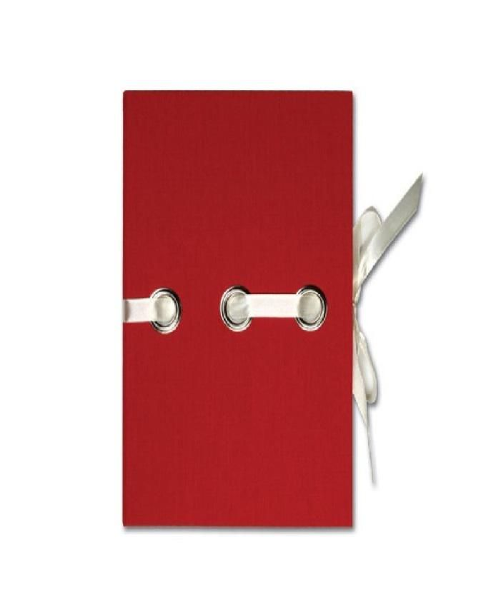 LEATHERETTE PAPER COVER-ELASTIC BAND RED SMALL