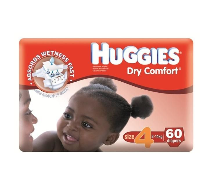 Dry Comfort diaper Jumbo pack(60pcs) - size 4