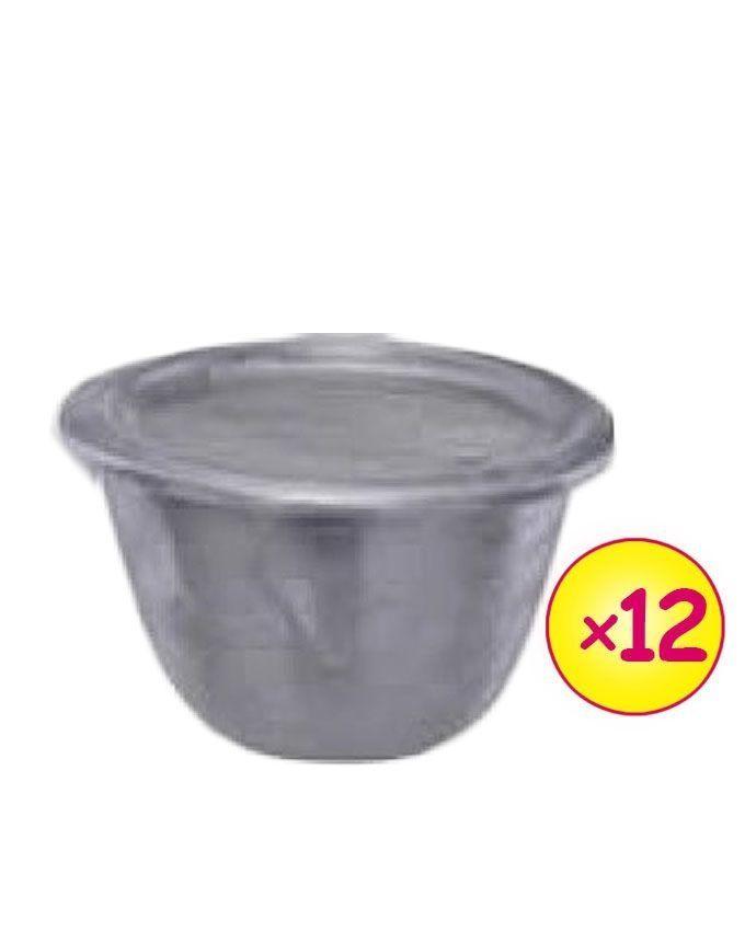 12pieces Aluminium Moi-Moi Bowl Set - SIlver