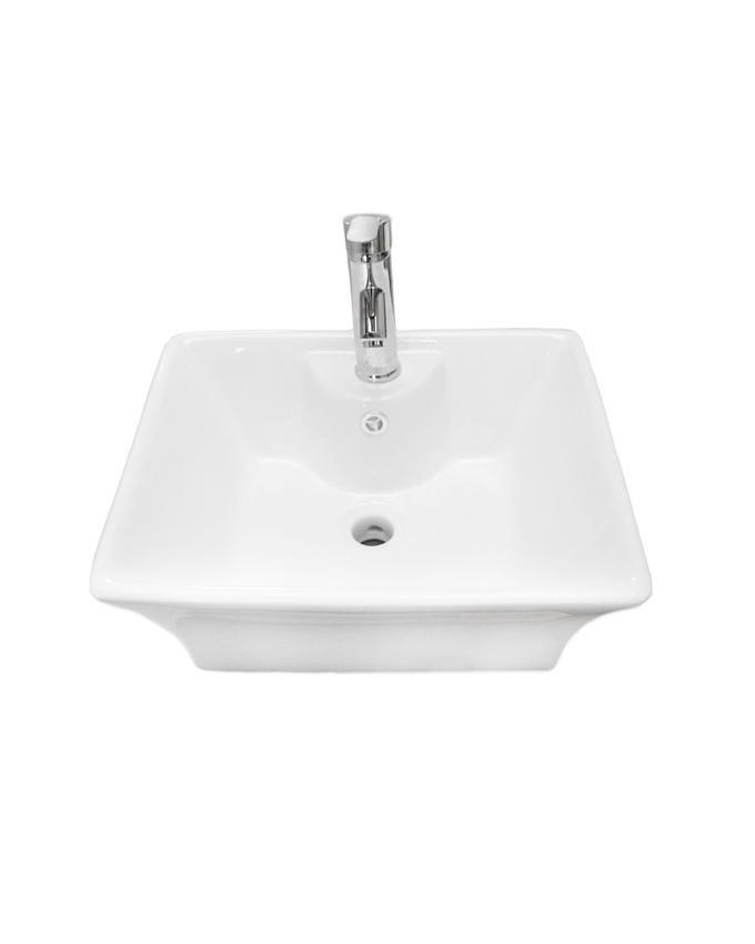Art Hanging Wash Hand Basin With Mixer- White