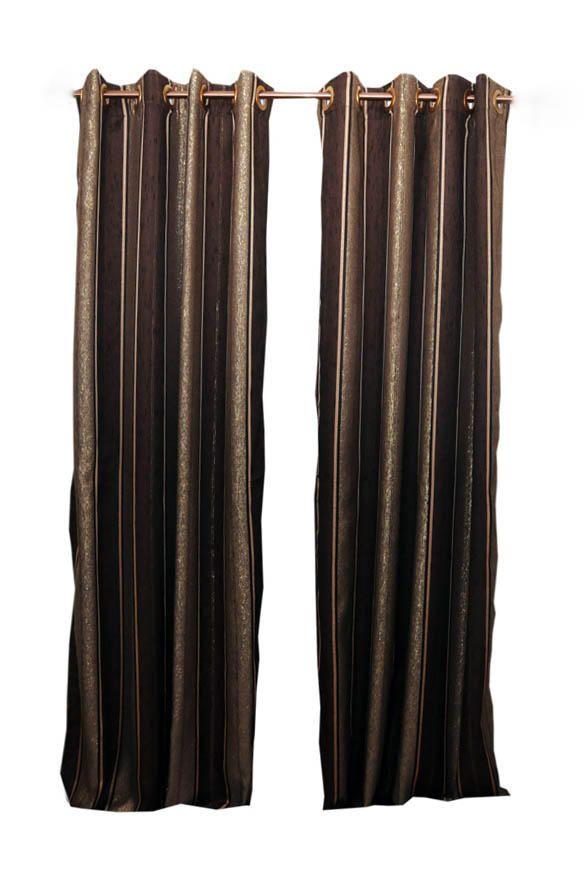 Gem Eyelet Curtains - Brown