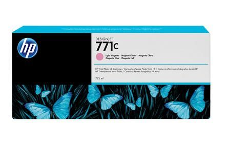 771C 775-ml Light Magenta DesignJet Ink Cartridge - B6Y11A