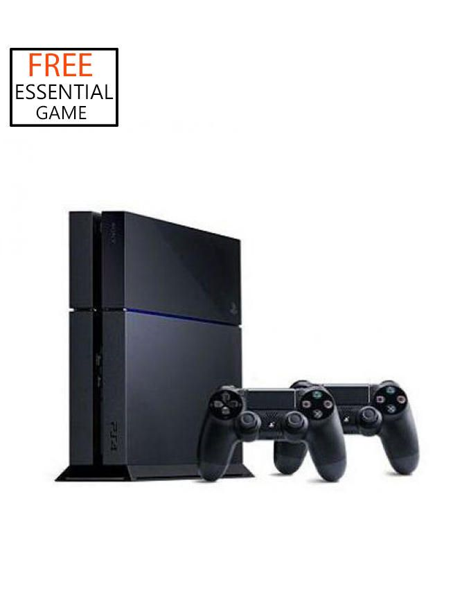 PS4 500 GB Console + 1 Dualshock 4 Controller + 1 free Game