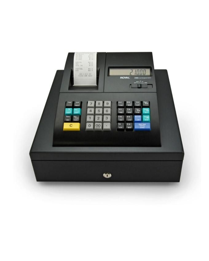 All in One Cash Register Integrated with Thermal Printer and Cash Drawer- Black