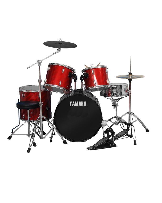 Drum Set 5pcs - Laser Red