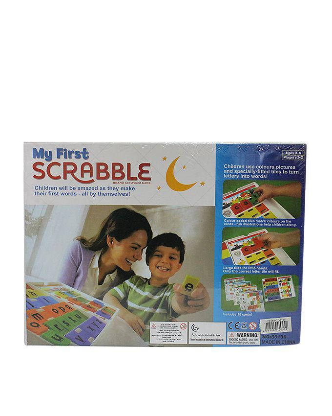 My First Scrabble Spell Down Game Box - Light Blue