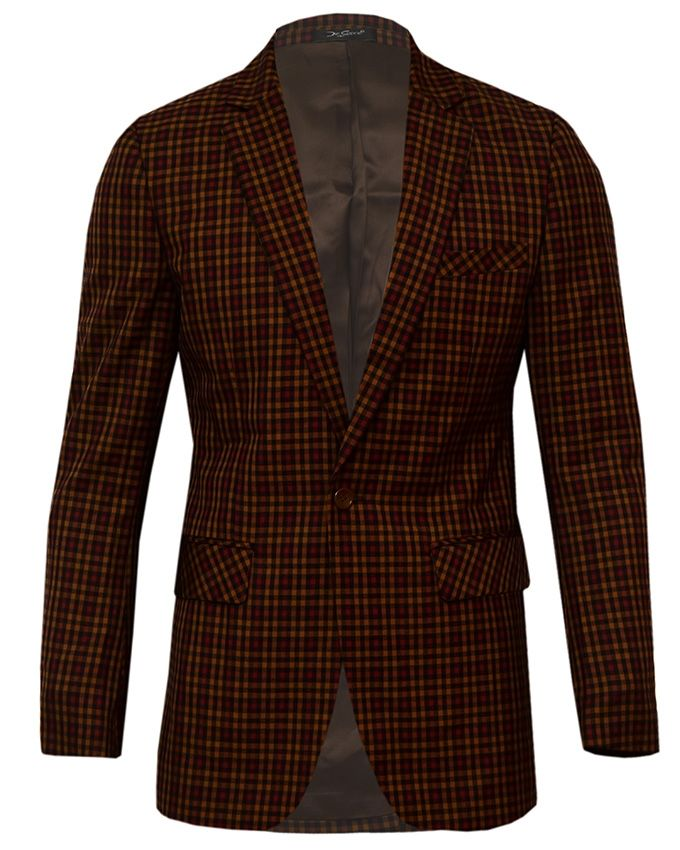 DIE CAPRIE Menu0026#39;s Turkey Blazers - Brown And Wine Checkered. | Buy Online | Jumia Nigeria