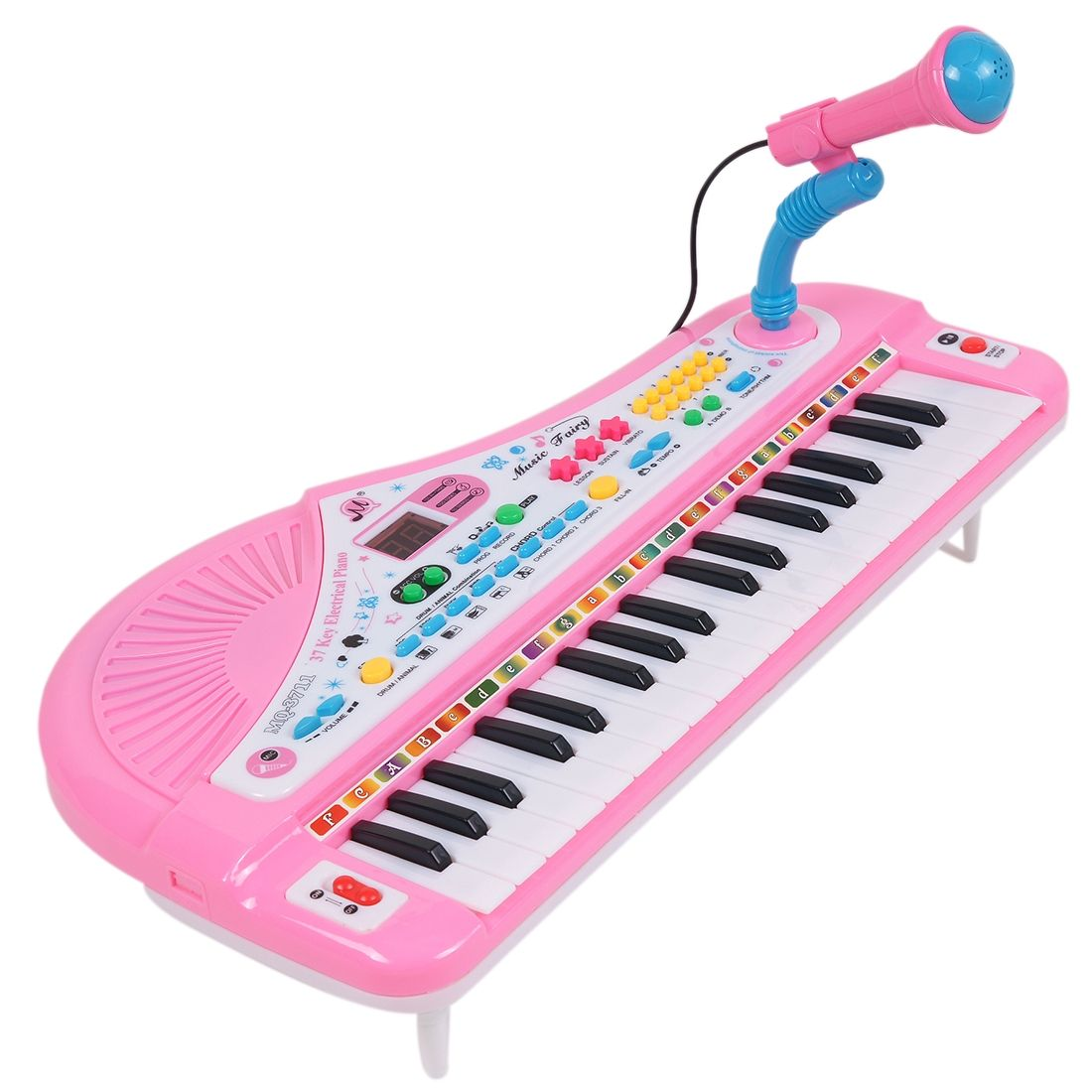 generic 37 key electronic keyboard digital piano musical toy with mic pink buy online. Black Bedroom Furniture Sets. Home Design Ideas