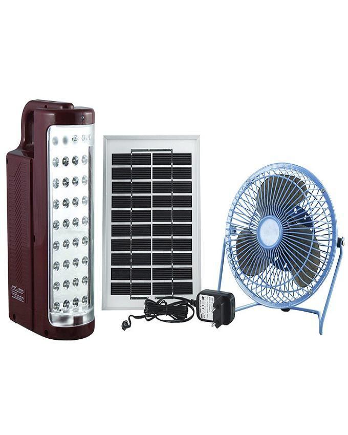 Solar Camping Light with Mini Fan