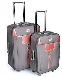2 Piece Brown Travel Luggage Set