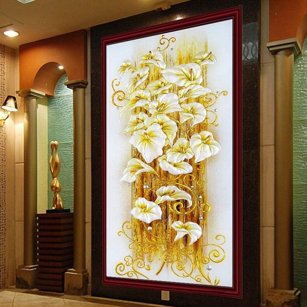 Generic beautiful home decoration 5d lily flower pattern for Beautiful house decoration