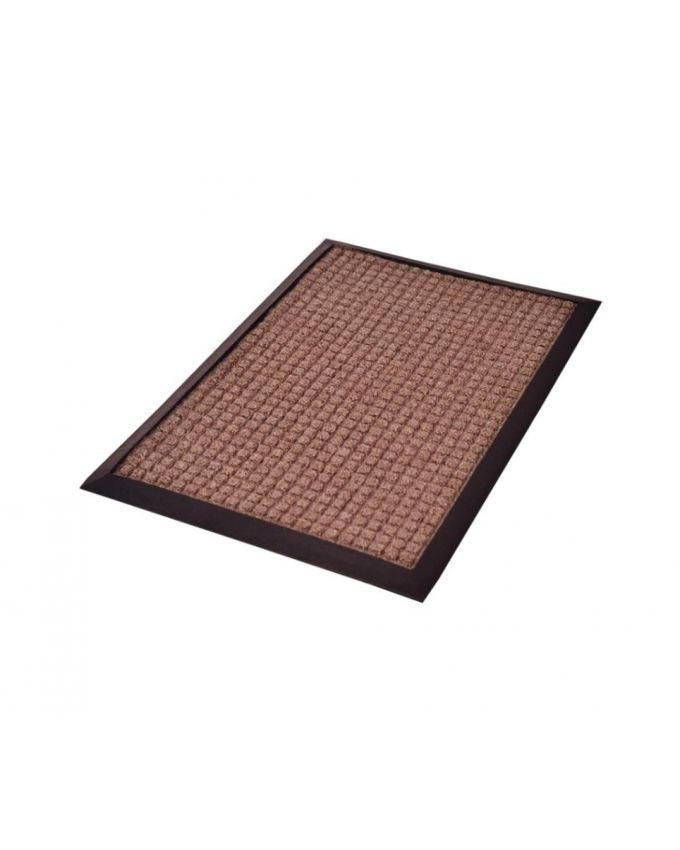 Door Foot Mat - Brown and black
