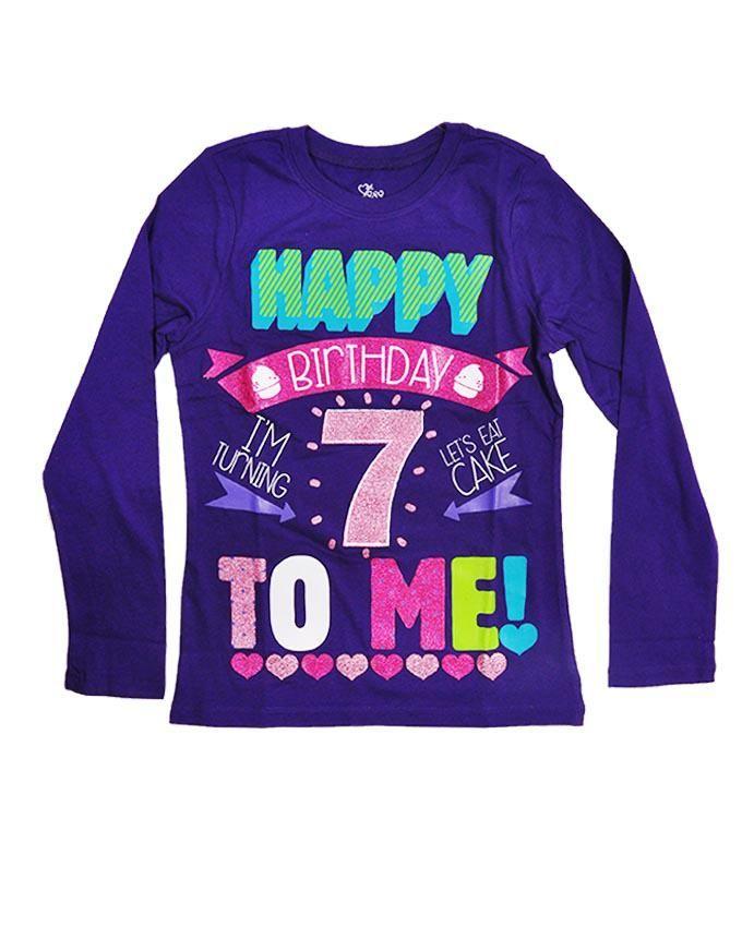 Girl's 7th Birthday Tee