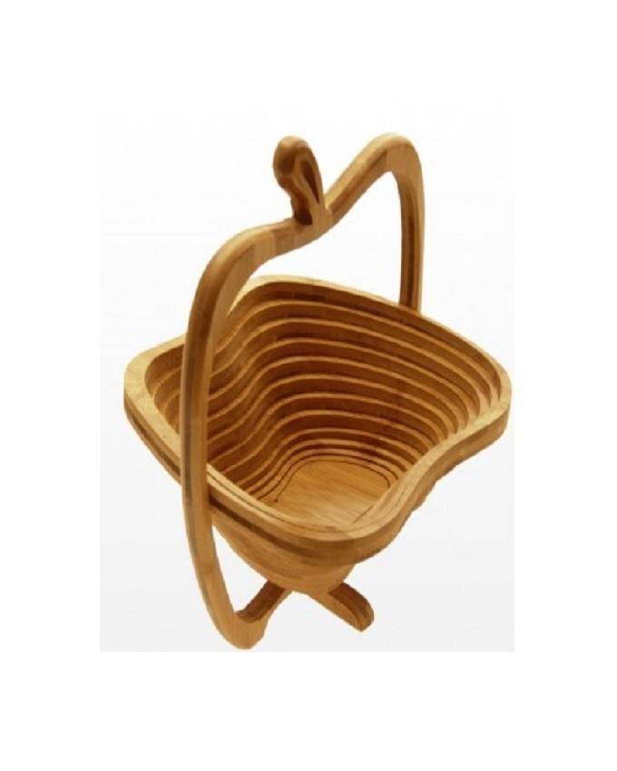 Apple Shaped Wooden Fruit Basket