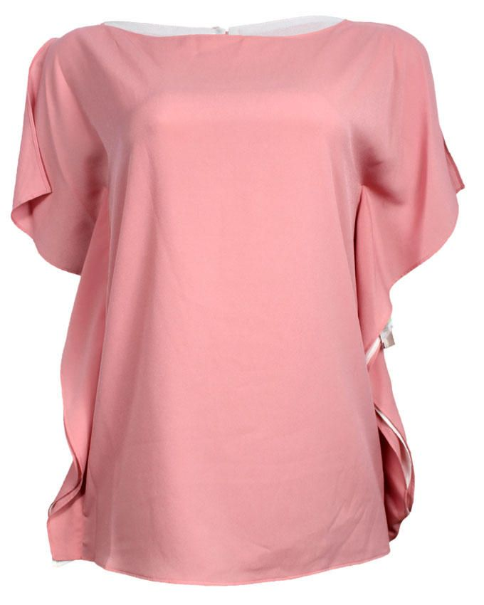 Women's Ruffle Sleeve Blouse - Peach