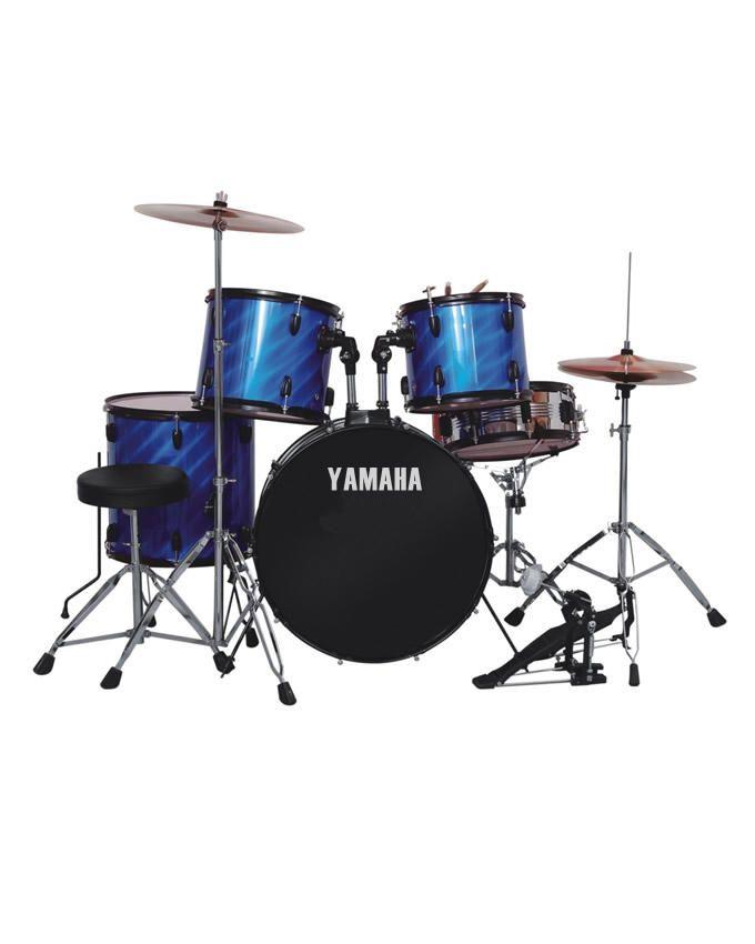 Drum Set 5pcs - Laser Blue