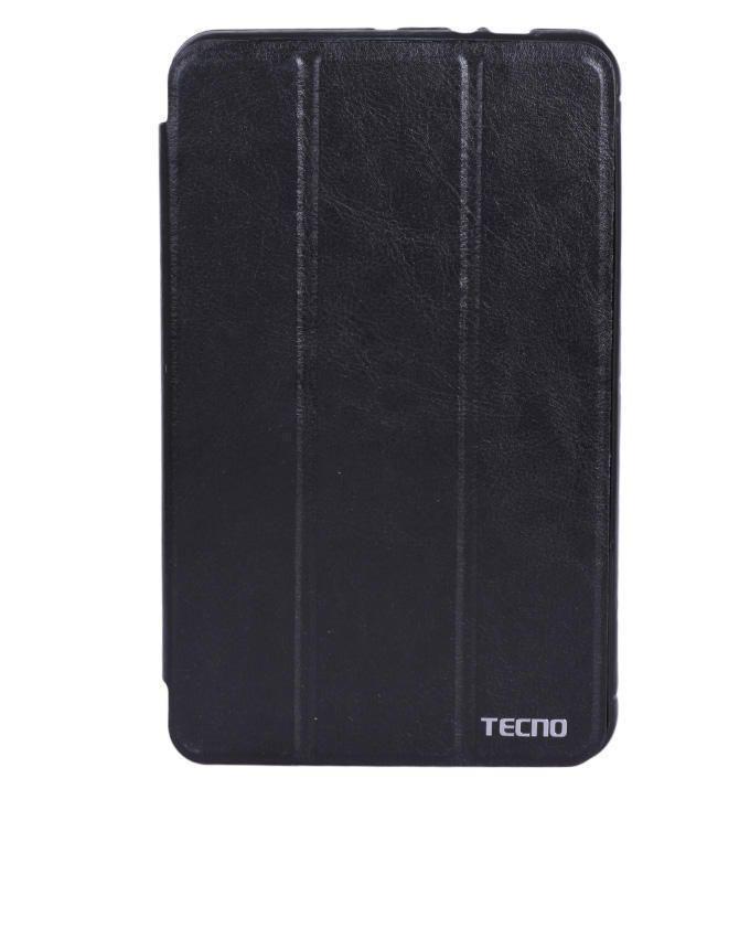 Tecno G9 Leather Flip Case - Black