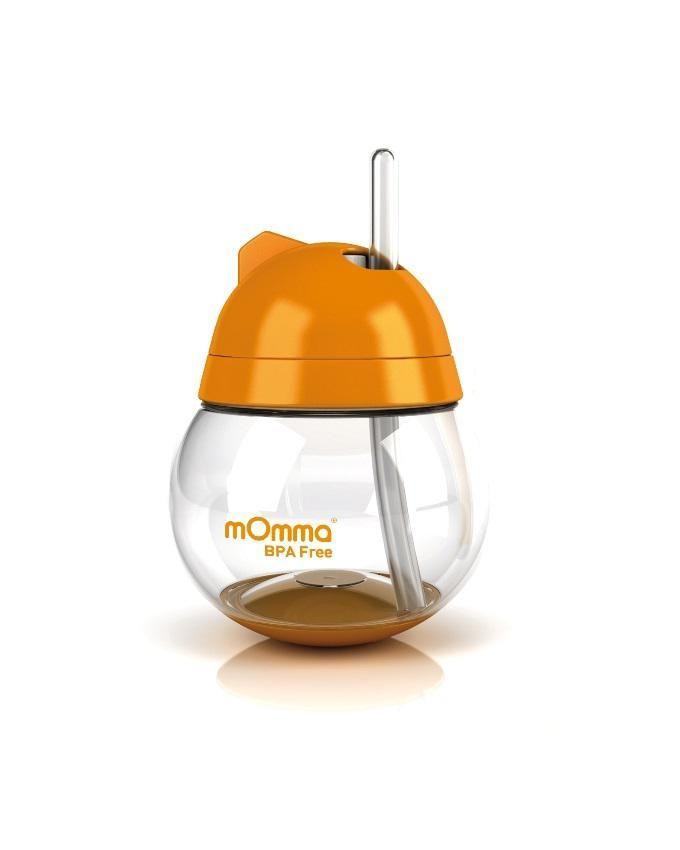 BPA Free Straw Cup - Orange