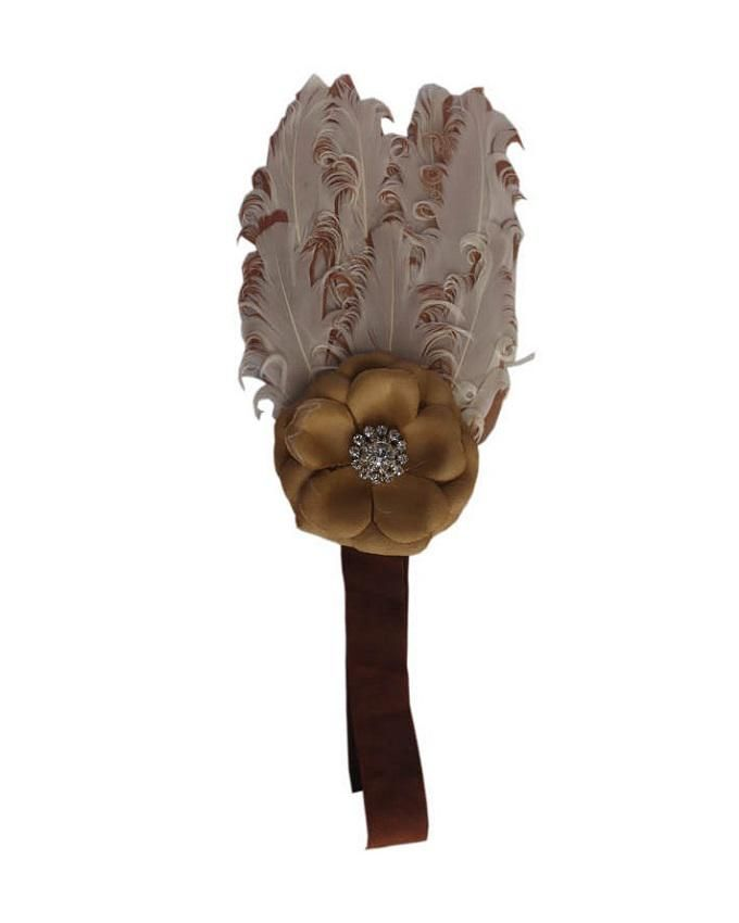 Brown Baby Feather Headband
