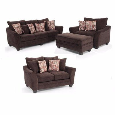 hapt jazz brown 3 2 1 sofa with ottoman buy online jumia nigeria. Black Bedroom Furniture Sets. Home Design Ideas