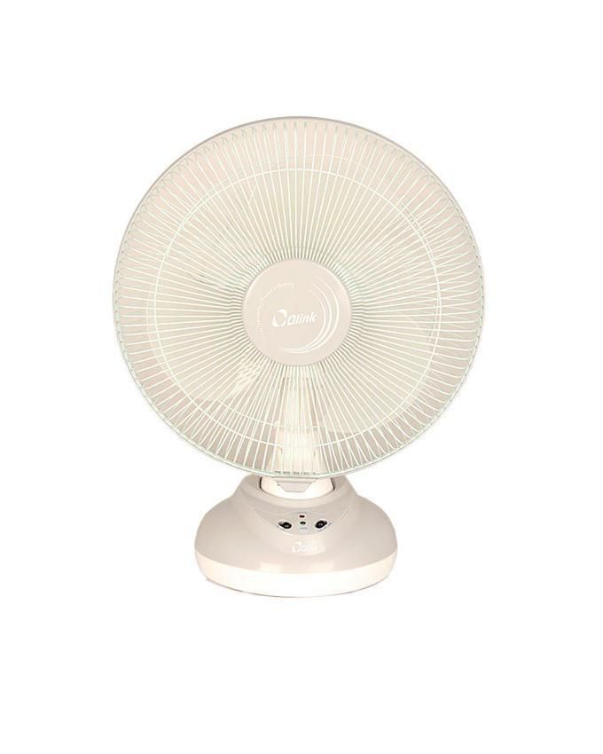 12'' Table Top Rechargeable Fan - White