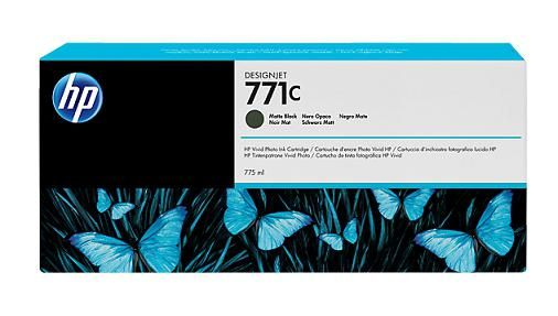 771C 775-ml Matte Black DesignJet Ink Cartridge - B6Y07A