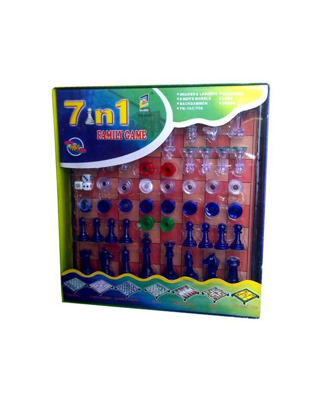 7-In-1 Classic Family Board Game