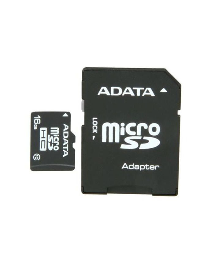 16GB MicroSDHC Memory Card With Adapter - Black