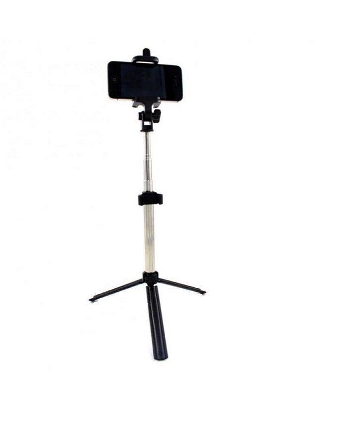 universal wireless remote control selfie stick monopod with foldable tripod black buy online. Black Bedroom Furniture Sets. Home Design Ideas
