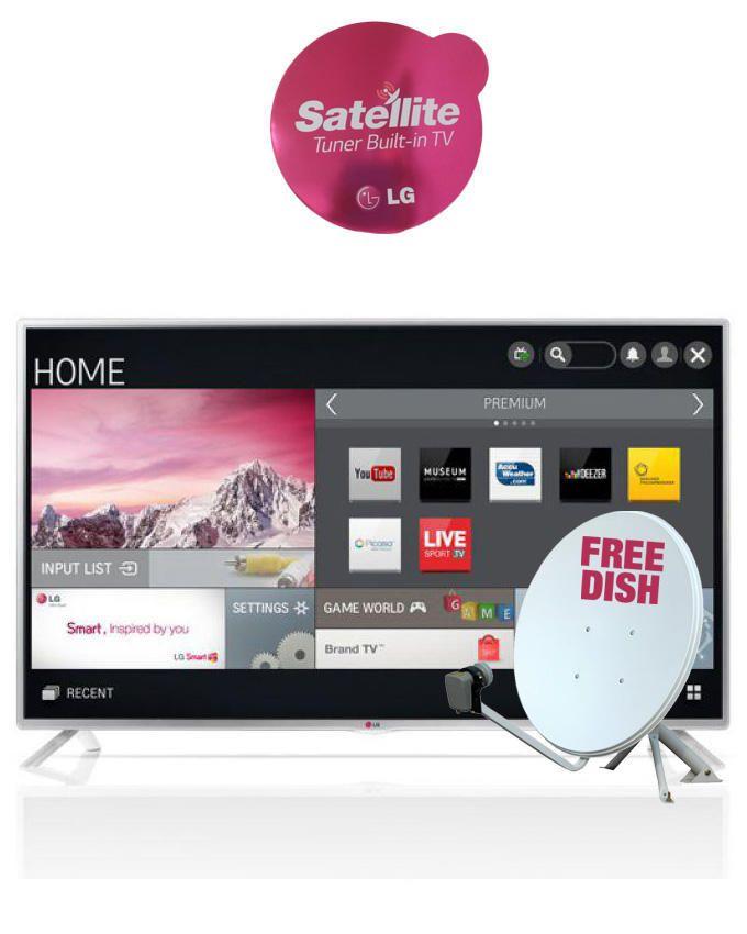 42 inch 42LB580V-TA  Smart Satelite LED TV With IPS Panel + Free Dish
