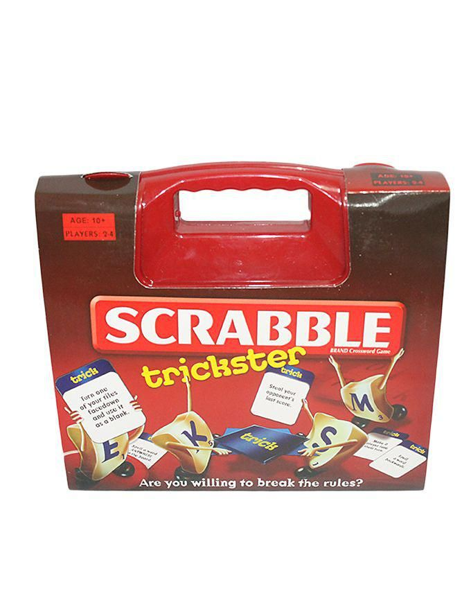 Scrabble Trickstar Crossword Game - Red