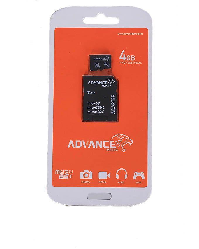 4GB MicroSD Memory Card - Black