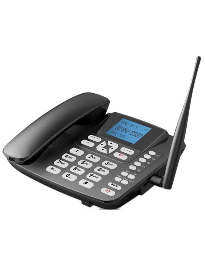 GSM Dual SIM Desktop Phonewith FM Radio - Black