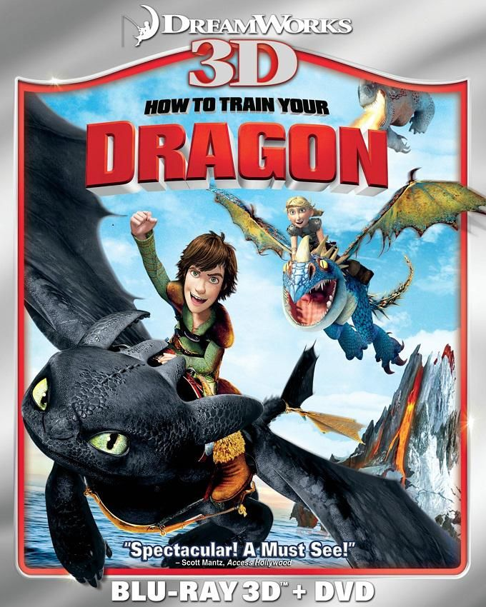 How to Train Your Dragon 3D Blu ray- Multicolor