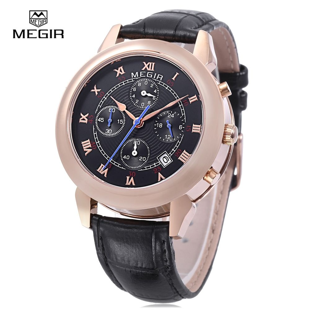 MEGIR Men's Leather Strap Watches - Buy Online
